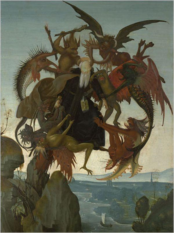 МИКЕЛАНДЖЕЛО БУОНАРРОТИ Искушение Святого Антония. Ок. 1487-1488